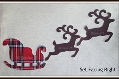 This is for 3 pieces of 2 x Plain dark Brown Coloured Woven Cotton Fabric,Die Cut,Buck Reindeer and 1 x Santas Sleigh. Set facing to the Left or to the Right  Each piece is approximately 5 inches and are Iron On, Sew On  Just peel off the backing paper. Iron & sew  These are NOT BADGES.  They are Plain Brown Deer and Red Scottish Tartan Sleigh as the ones in the pictures although may not be exact pattern...  Very low price.  They are patterned fabric as the ones in the pictures although may…