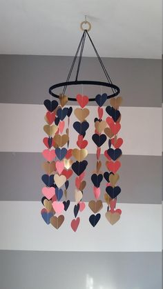 Navy, coral and gold. Child, baby decor - Home Page Diy Crafts Hacks, Diy Arts And Crafts, Decor Crafts, Home Crafts, Paper Wall Art, Diy Wall Art, Diy Wall Decor, Mobiles, Baby Dekor