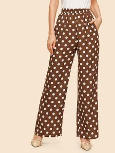 To find out about the Elastic Waist Polka Dot Pant at SHEIN, part of our latest Pants ready to shop online today! Polka Dot Pants, Polka Dots, Pantalon Large, Robes Midi, Type Of Pants, Pant Shirt, Printed Pants, Palazzo Pants, Pants Outfit
