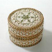 Quill Box by Henrietta Toulouse, Ojibwa artist (T90307)