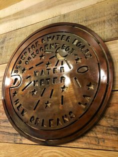 New Orleans Water Meter Cover Meter Box Metal by DamrillMetalArt