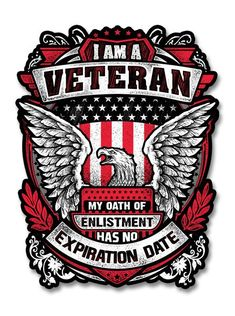 Durable and weatherproof vinyl sticker suitable for car, motorcycle and helmets Size: 4 inches Us Veterans, Military Veterans, Veterans Quotes, Military Quotes, Military Art, Military Slogans, Military Life, American Veterans, American Soldiers