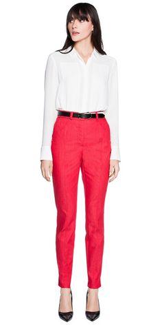 Pants | Red Denim Jeans