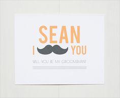 free personalized will you be my groomsman card #freeprintable #groomsmen #weddingchicks http://www.weddingchicks.com/2014/04/01/groomsmen-gift-ideas/