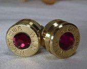 earrings made out of a .357 mag casing <3 LOVE cute cute cute