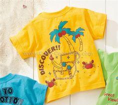 เสื้อยืดแขนสั้นเด็กแบบ Nissen สีเหลือง 80- -* 90- * 100- 110-