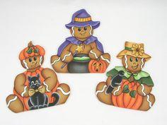 A Stroke of Jeanne-ius  - Halloween Gingerbread Trio E-Pattern, $6.00