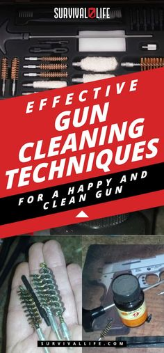 Gun Cleaning Techniques Effective Gun Cleaning Techniques For A Happy And Clean Gun Survival Weapons, Survival Life, Survival Tools, Camping Survival, Outdoor Survival, Survival Prepping, Emergency Preparedness, Survival Stuff, Wilderness Survival