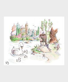Another great find on #zulily! Dark-Haired Swan Princess Print #zulilyfinds