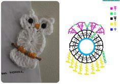 Owl applique #crochet