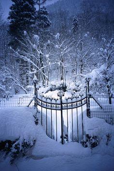 winter entrance.