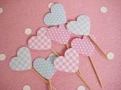 Cupcake & Muffin Topper ♥ 8er Set - ♥ NEU Papeterie von Minikinder - Dekoration - Kindergeburtstag - DaWanda