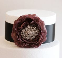 Pastel Burgundy and Black Cake Decorations, Pastel Burgundy and Black Wedding Accessory, Vintage, Birthday Cake Decoration on Etsy, $36.50