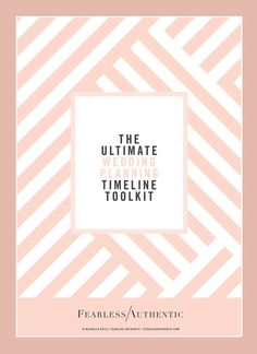 I've created a wedding planning timeline toolkit, sharing my proven formula for tackling your wedding planning with confidence and ease. It's the exact process I use with all my wedding planning clients and you can download the guide below.