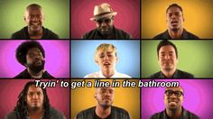 "Miley Cyrus And The Roots Do ""We Can't Stop"" A Capella"