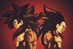 Goku and Vegeta Dragon Ball Gt, Dragon Ball Image, Black Goku, Akira, Super Saiyan 4 Goku, Fan Art, Son Goku, Character Art, Drawings