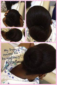Relaxed Hair Care Guyana hair bun#relaxedhair #protectivestyle