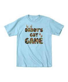 Another great find on #zulily! Light Blue 'Daddy's Got Game' Tee - Toddler & Boys by Country Casuals #zulilyfinds