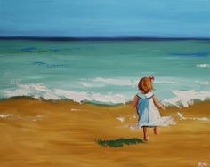 16x20 inch Beach 39 Print of oil painting by Roz by RozArt on Etsy, $45.00