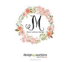 premade logo design watercolor logo by designauctionsnow on Etsy