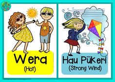 Weather cards in Te Reo Maori   English {FREE PRINTABLES} by Green Grubs Garden Club