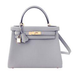 #Hermes #Kelly #Bag Retourne Gris Mouette Togo Gold Hardware