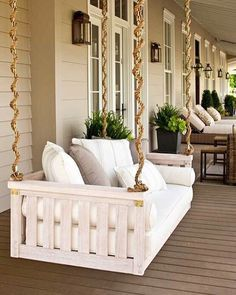 Image result for headboard porch swing