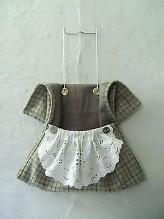 Wool Utilitarian Clothes Pin Bag Dress with Eyelet Apron Laundry Room Decor ..