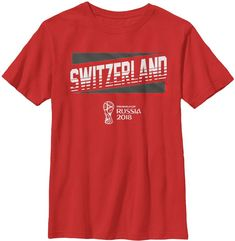671a8db23 Fifth Sun Youth 2018 Fifa World Cup Switzerland Slanted Red T-Shirt
