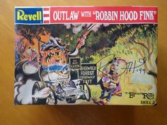 Outlaw with Robbin Hood Fink model kit Revell 1996 signed by Ed Big Daddy Roth  #revell #modelkit #vintage #edroth #ratfink #kustomkulture #hotrod