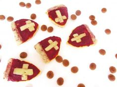 Idee: Pizzamijtertjes voor Sinterklaas #Sinterklaas #hapjes