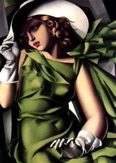 Young Lady with Gloves, 1930 by Tamara de Lempicka, Musee National D'Art Moderne, Centre Pompidou - Paris