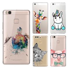 Unicorn Sea Turtle Silicone Phone Cases For Huawei P8 P9 Lite Rainbow Giraffe Cute Small Pig Cat Elephant Back Cover Soft Shell