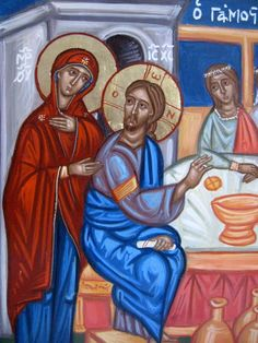 First Miracle of Jesus Christ at Cana wedding banquet