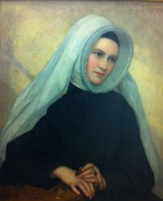 George P. A. Healy painted this oil portrait of his daughter, Emily Agnes (1853-1909), in 1874 when she was a novice of the Religious of the Sacred Heart . Mother Healy died in 1909 at age 56, in the Academy of the Sacred Heart convent in the Chicago suburb of Lake Forest, Illinois.