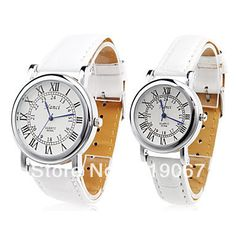 Free Shipping Pair of Unisex PU Analog Quartz Wrist Watch (White) on AliExpress.com. 10% off $11.62