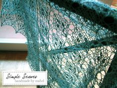 #knitted #lace #scarf - A Leaf In A Leaf by meiteoh, via Flickr