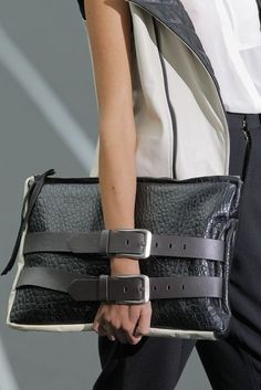 Love this purse with belts.