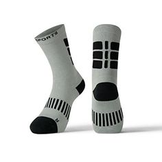e88d3934889f9 X31 Sports Performance Athletic Crew Socks with Cushioned Heel Toe and  Reinforced Arch Support Grey Medium