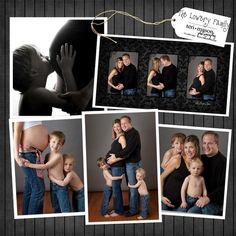 family maternity pictures. Love the one of the boy kissing the baby belly