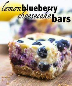 Lemon blueberry chesecake bars