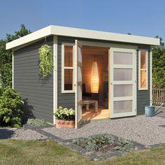 Abri de jardin en bois. http://www.m-habitat.fr/abri-de-jardin ...