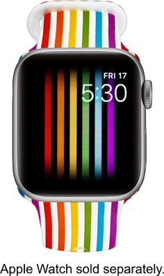 Modal - Active Silicone Band for Apple Watch and - Pride Stripe Apple Watch 42mm, Apple Watch Bands, Apple Sport Band, Apple Watch Wristbands, Apple Brand, Best Buy Store, Tag Design, All Brands, Stripes Design