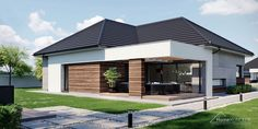 Village House Design, Village Houses, Design Case, Postmodernism, Modern House Design, Curb Appeal, My House, House Plans, Scale