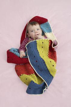 Big Stripes Small Throw Pattern (Crochet)