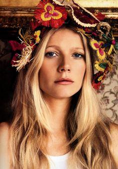 Gwyneth Paltrow stuns in a flower crown. #FestivalReady