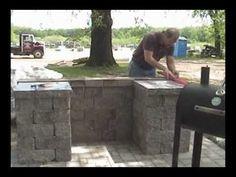Allan  Block Courtyard BBQ Grill Surround - Hoffman Bros. Sod