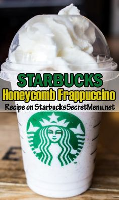 Try Starbucks Honeycomb Frappuccino! #StarbucksSecretMenu Sweet and simple. Recipe here: http://starbuckssecretmenu.net/honeycomb-frappuccino-starbucks-secret-menu/