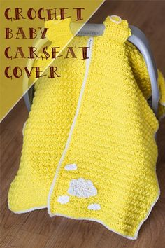Crocheted carseat cover. Car seat tent. Link to free pattern