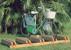 Portabiciclette canguro tutto legno cm200x60x16h - Portabici Arredo urbano - Dina Forniture